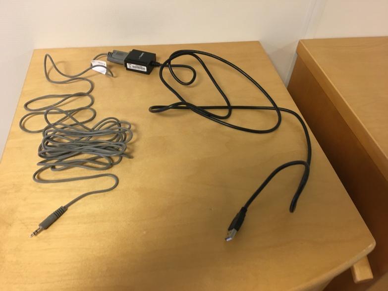 Minijack to RS232 to USB