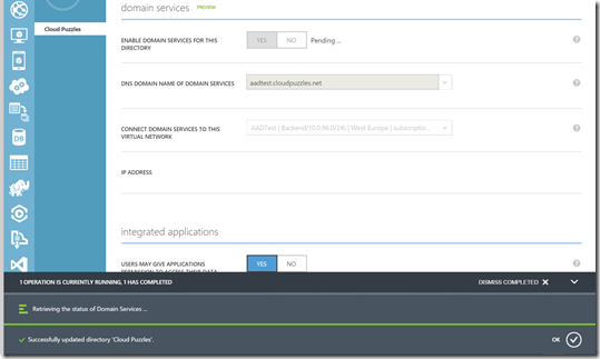 Azure AD Domain Services - Enable AAD DS